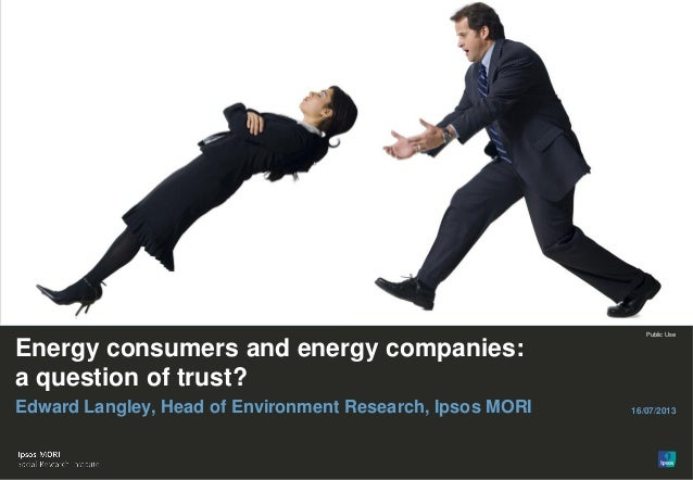 Energy consumers and energy companies: A question of trust