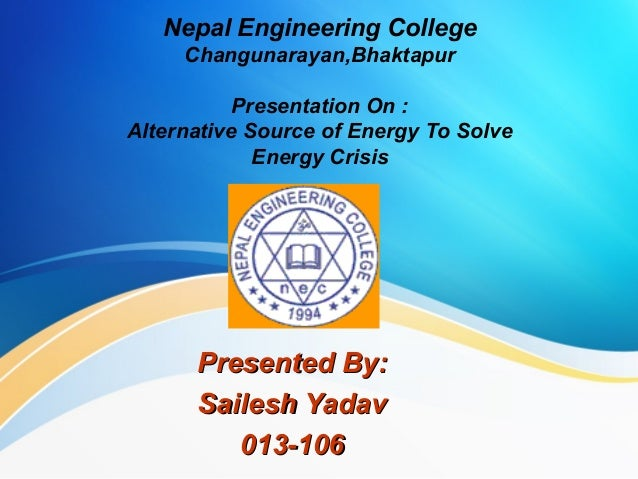 essay solution energy crisis Essays - largest database of quality sample essays and research papers on solutions of energy crisis.