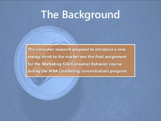 Research proposal on consumer behaviour