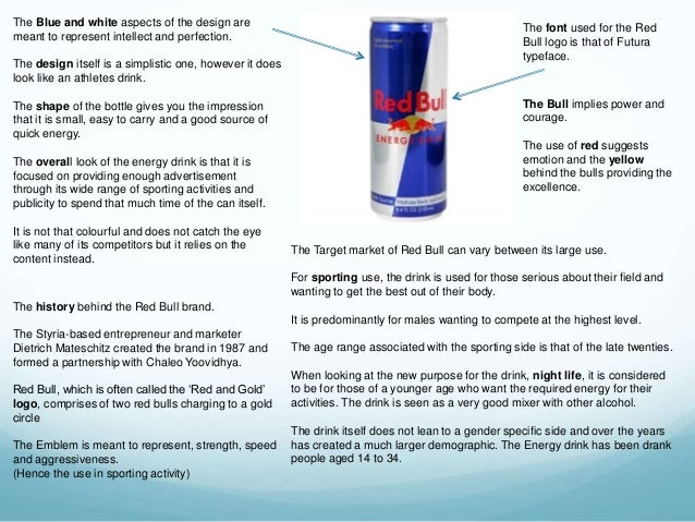 marketing research on red bull energy Red bull is one of the world's most famous and greatly loved energy drinks  at  all, just changing a recipe and some really good marketing.