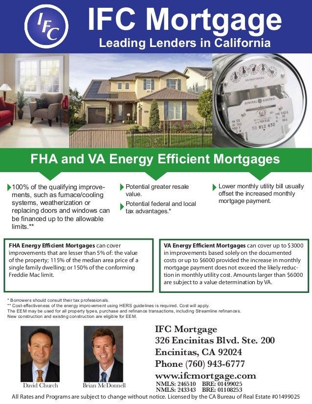 Va Mortgages: Energy Efficient Va Mortgage