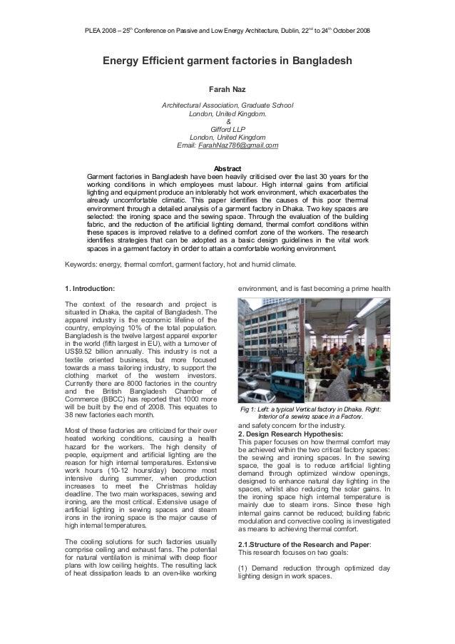 Energy Efficient Garmentfactories in Bangladesh