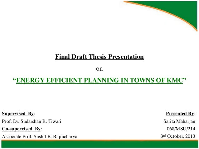 Energy efficient planning in towns of kmc