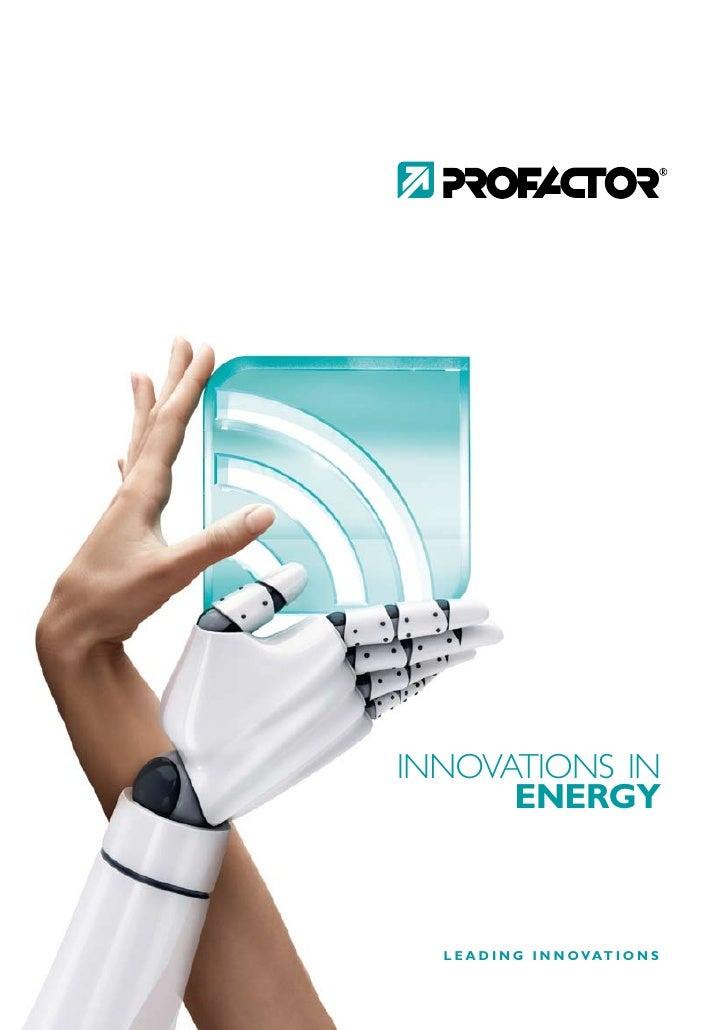 PROFACTOR Gruppe   ENERGY
