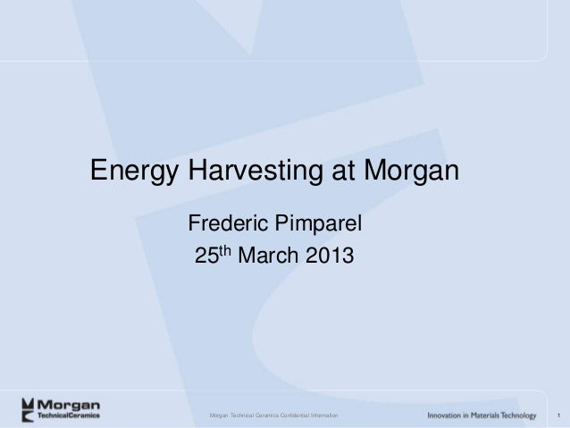 Energy harvesting at morgan