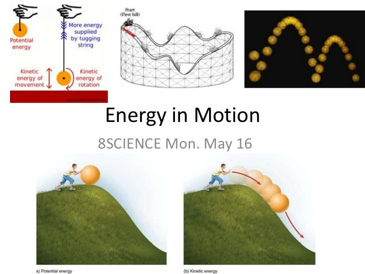 Energy in Motion<br />8SCIENCE Mon. May 16<br />