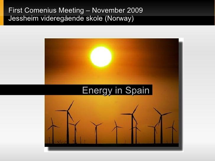 Energy In Spain (Comenius Project)