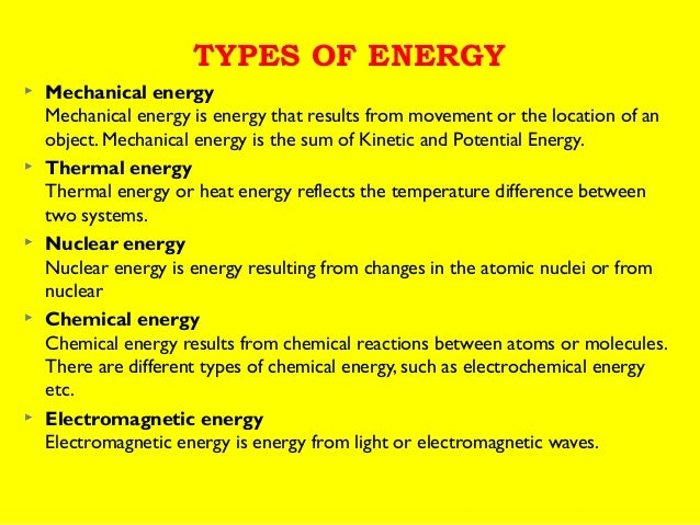 Electrical Energy Mechanical Energy To Electrical Energy Examples