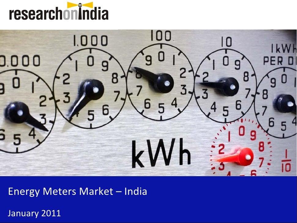 Market Research Report : Energy Meters Market in India 2011