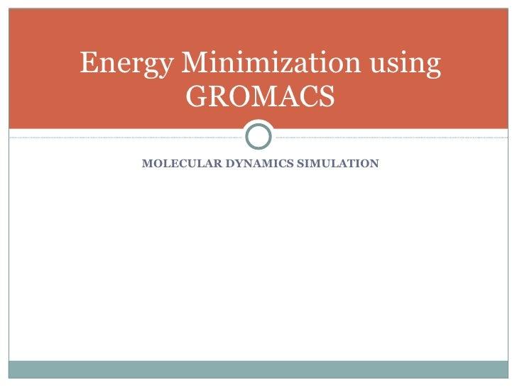 Energy Minimization Using Gromacs