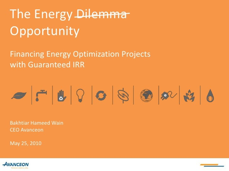 Energy optimization management for industry