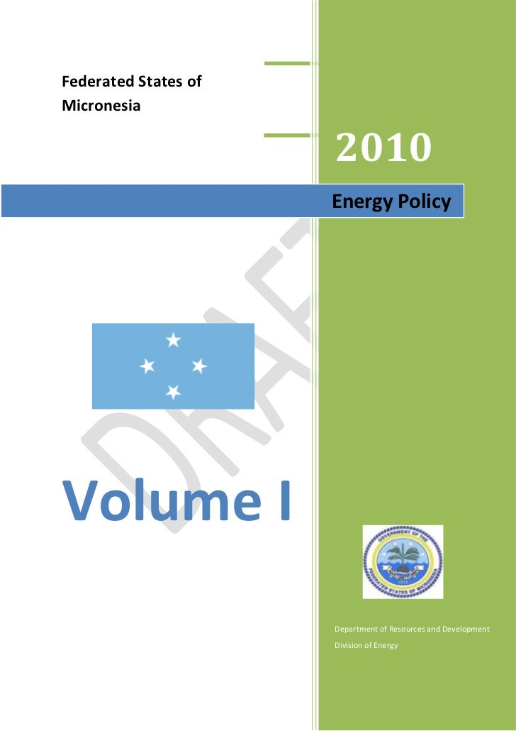 Energy Policy (volume I) - Updated
