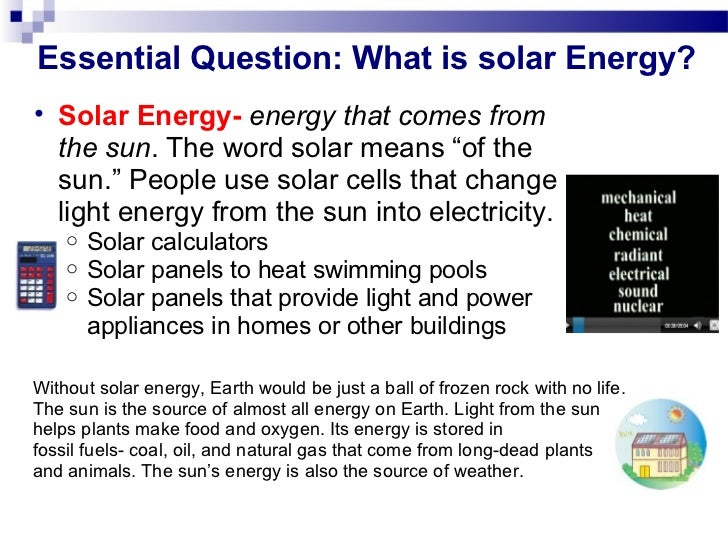 Energy ppt 1 for Uses of solar energy for kids