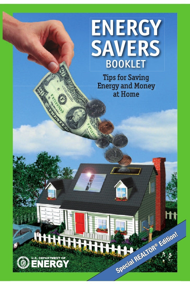 ENERGY SAVERS   BOOKLET  Tips for Saving Energy and Money En     at Home