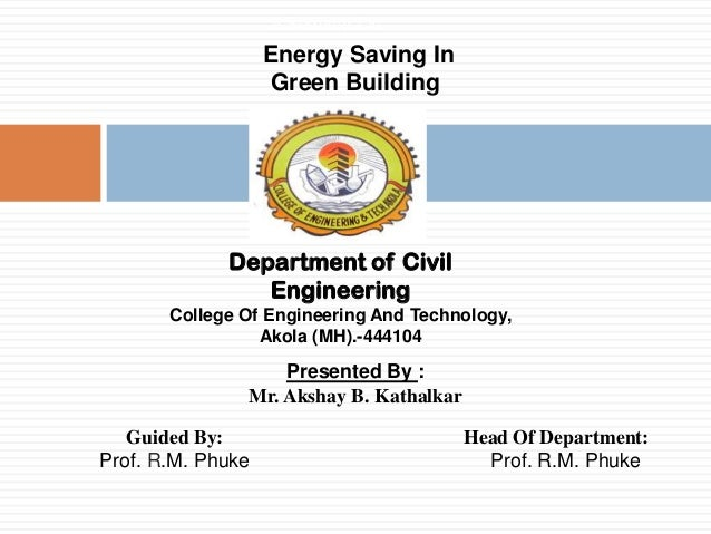 Saving in Green Building