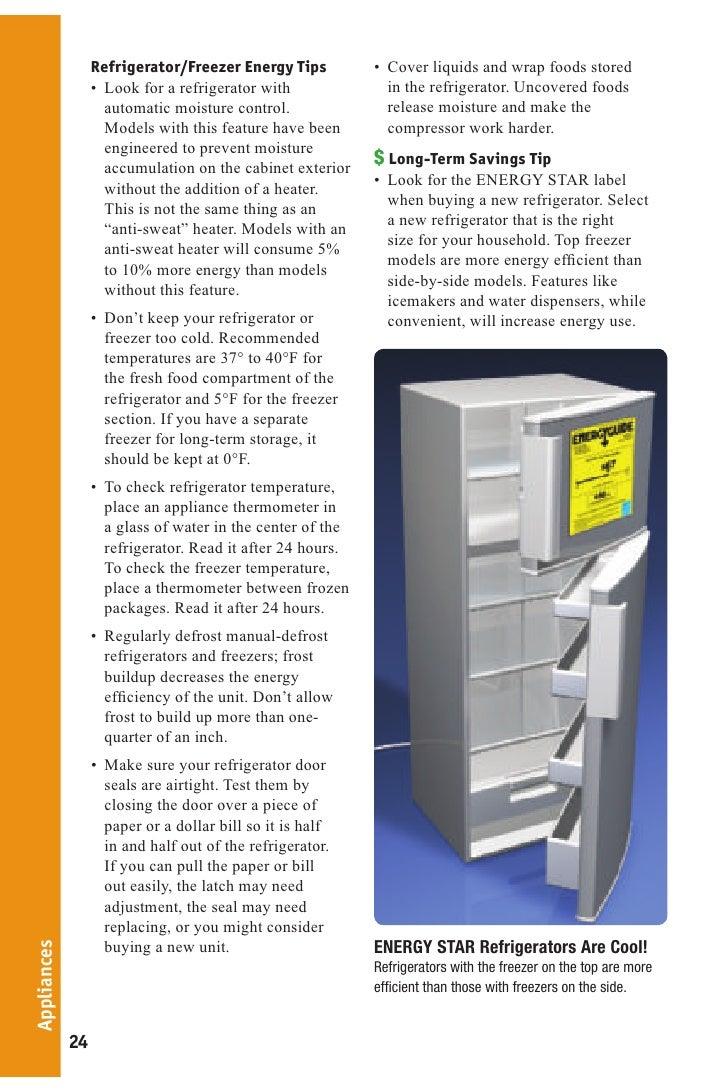 Refrigerator Energy Refrigerator/freezer Energy