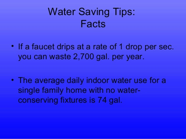 Energy saving tips for Energy conservation facts