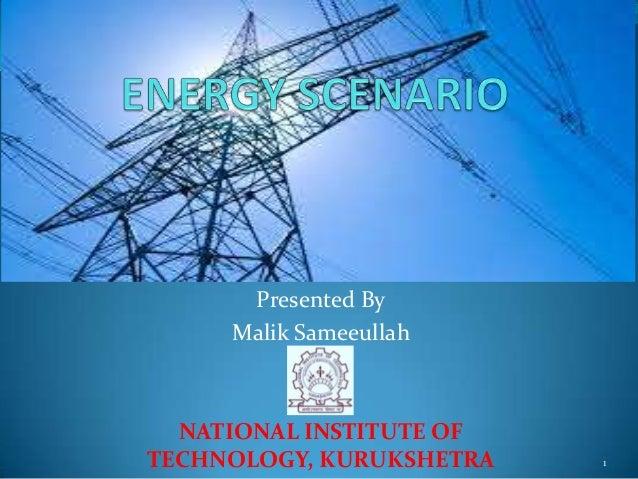 Energy scenario in India