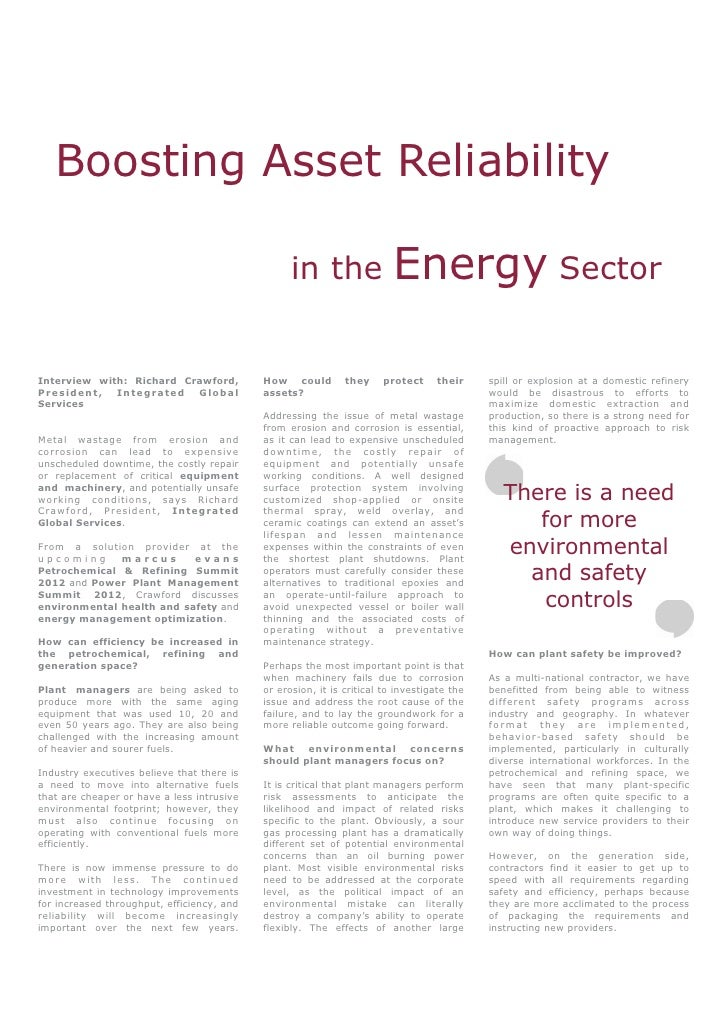 Boosting Asset Reliability                                                  in the                 Energy SectorInterview ...