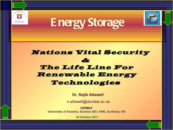 Nations Vital Security  &  The Life Line For Renewable Energy Technologies     Dr. Najib Altawell   [email_address] CEPMLP...