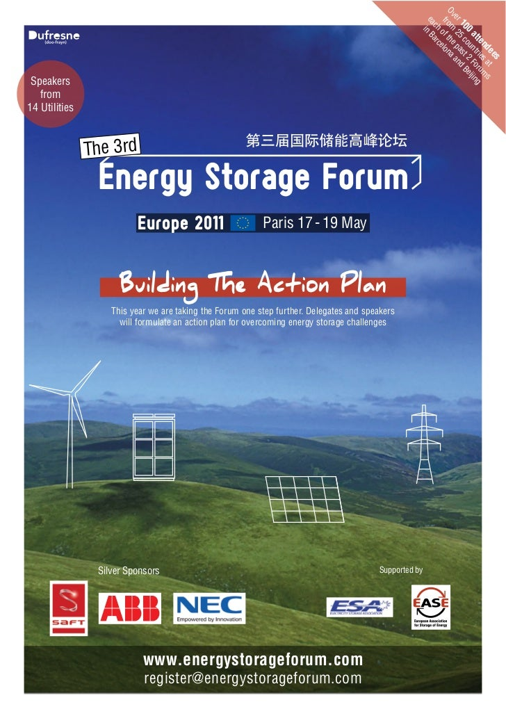 3rd Energy Storage Forum - Europe