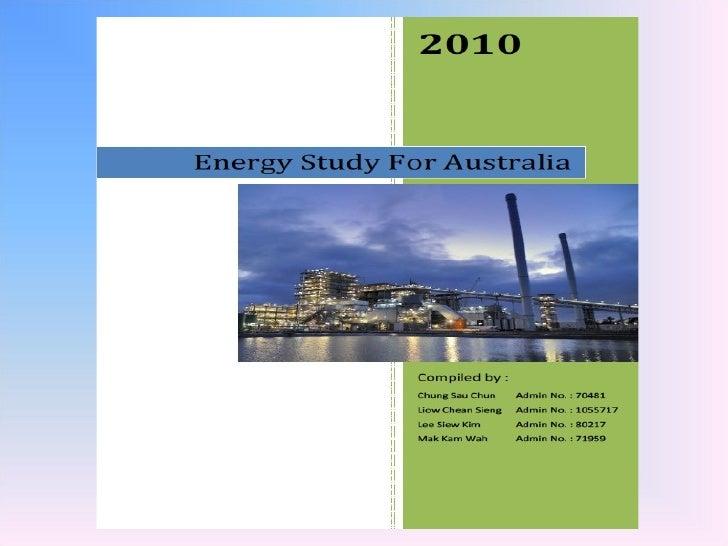 Energy Study For Australia Ver 2