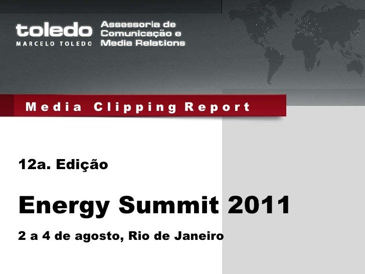 Energy summit  2011 clipping