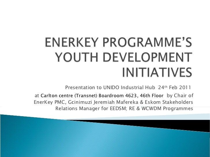 Presentation to UNIDO Industrial Hub  24 th  Feb 2011  at  Carlton centre (Transnet) Boardroom 4623, 46th Floor   by Chair...