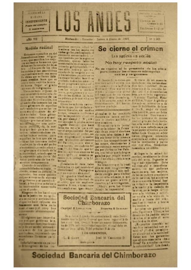 Los Andes del Año 1923