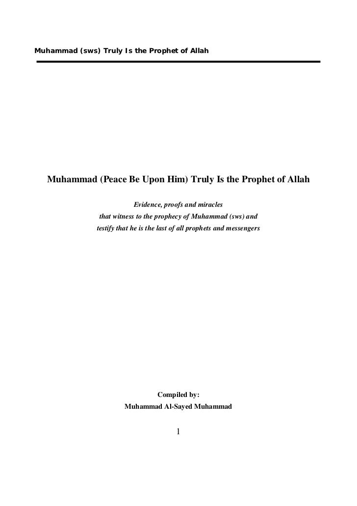 En evidence of_the_prophecy_of_muhammad