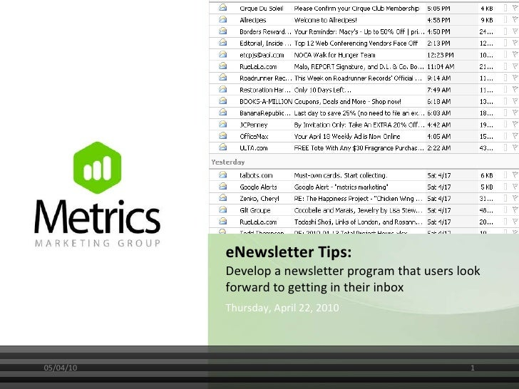eNewsletter Tips