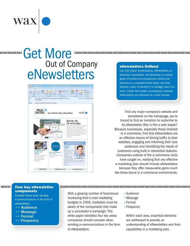 Get More Out of Company eNewsletters