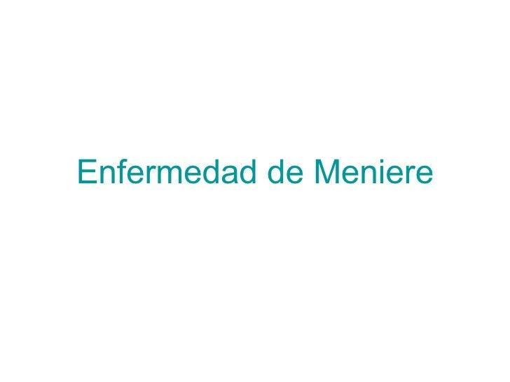 Enfermedad Meniere