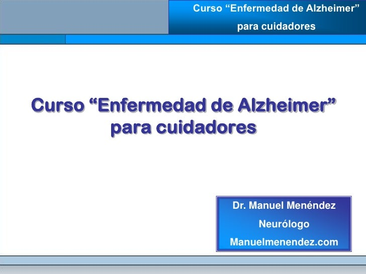 Enfermedad de alzheimer para cuidadores