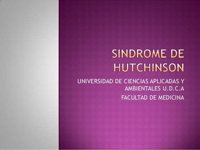 UNIVERSIDAD DE CIENCIAS APLICADAS Y               AMBIENTALES U.D.C.A              FACULTAD DE MEDICINA
