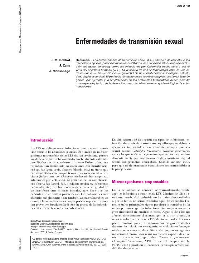 página 1 Introducción Las ETS se definen como infecciones que pueden transmi- tirse durante las relaciones sexuales. El nú...