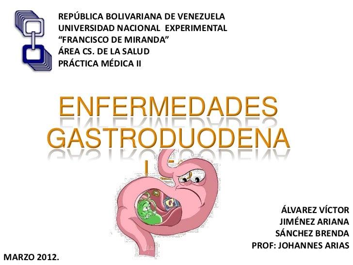 Enfermedades gastroduodenales
