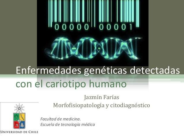 Cariotipo y enfermeades genéticas