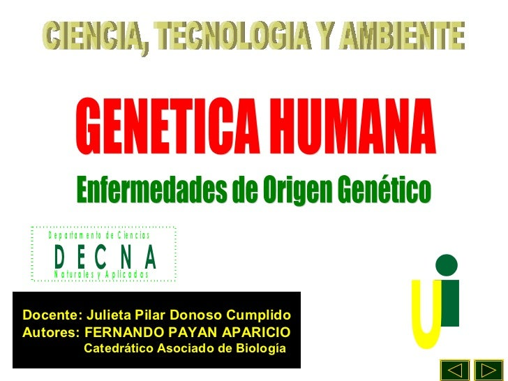 Enfermedades origen genetico