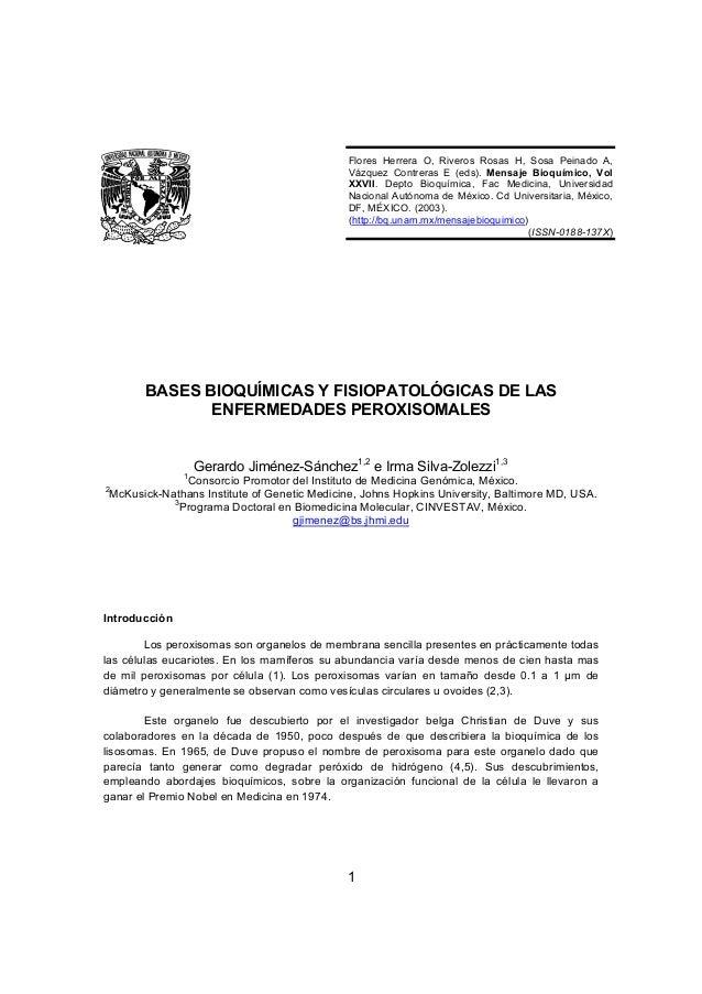 Flores Herrera O, Riveros Rosas H, Sosa Peinado A,                                              Vázquez Contreras E (eds)....
