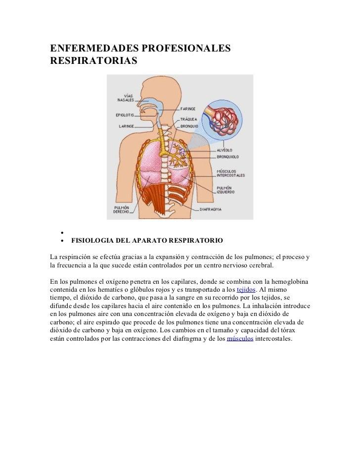 Enfermedades profesionales respiratorias
