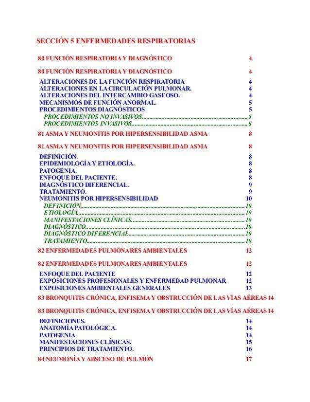 SECCIÓN 5 ENFERMEDADES RESPIRATORIAS80 FUNCIÓN RESPIRATORIA Y DIAGNÓSTICO                                                 ...