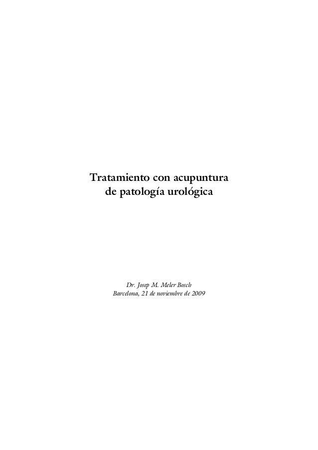Enfermedades urologicas tratamiento con-acupuntura