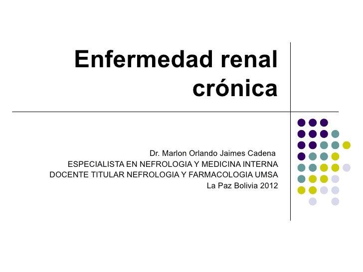Enfermedad renal crónica  2012