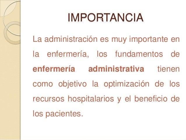 Enfermer a administrativa for Importancia de la oficina