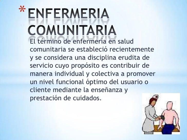 Enfermeria comunitaria for Practica de oficina concepto