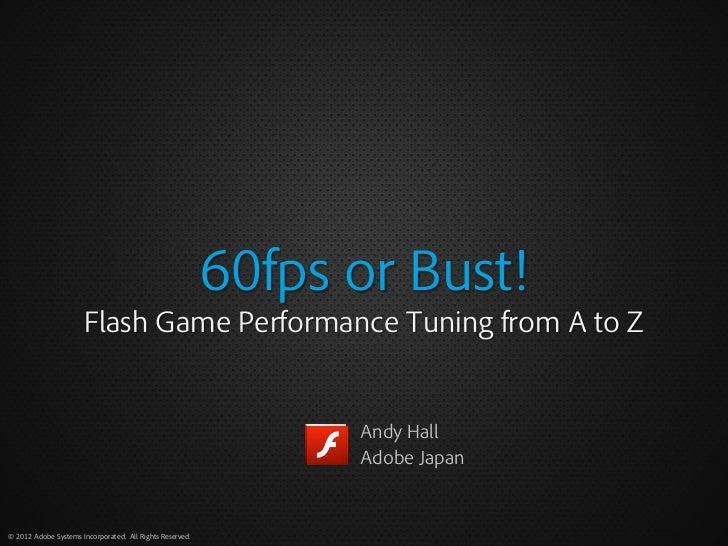 Flash performance tuning (EN)