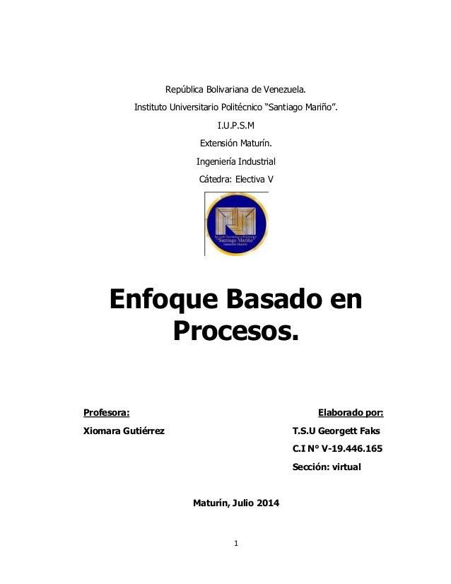 """1 República Bolivariana de Venezuela. Instituto Universitario Politécnico """"Santiago Mariño"""". I.U.P.S.M Extensión Maturín. ..."""
