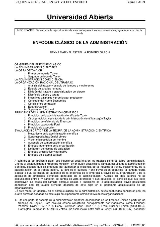 ESQUEMA GENERAL TENTATIVO DEL ESTUDIO                                                        Página 1 de 21               ...