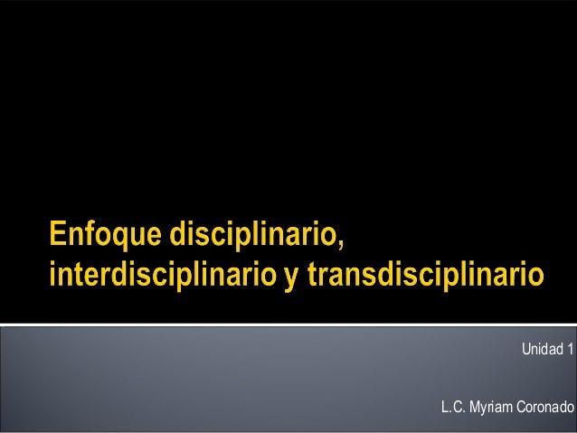 Enfoque disciplinario, interdisciplinario y transdisciplinario